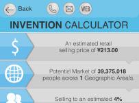 iPhone app Invention Calculator