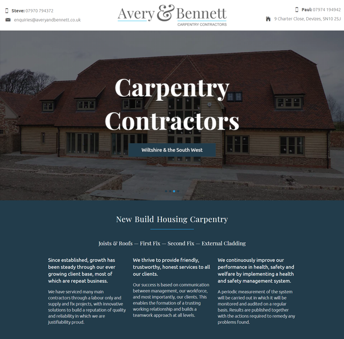 Avery & Bennett Website