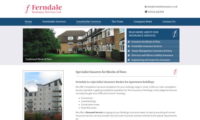 Ferndale Insurance Services Ltd Website