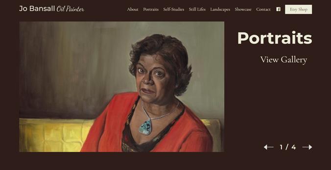 Jo Bansall Artist Portfolio Website