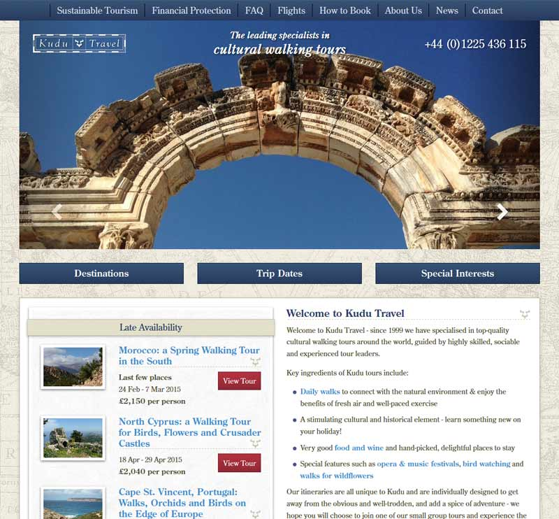 New Kudu Travel Homepage