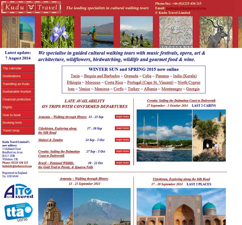 Old Kudu Travel Homepage