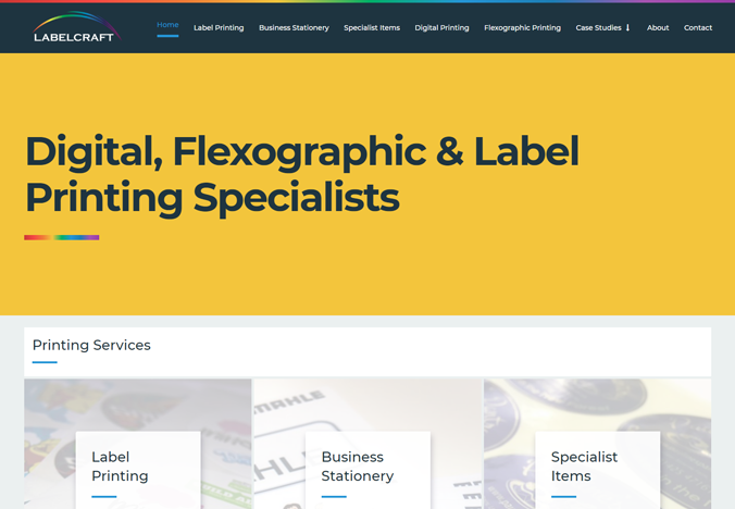 Labelcraft website