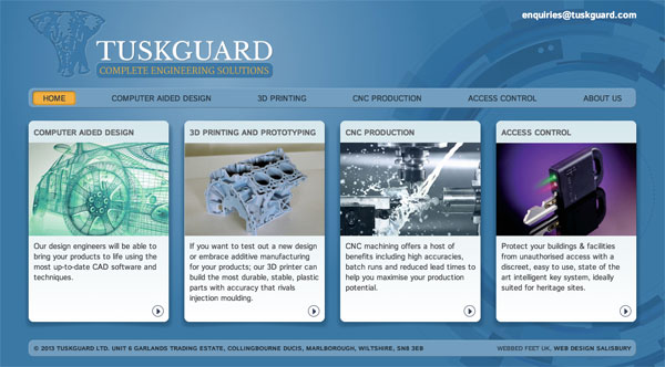 Tuskguard website design