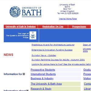 Bath University 2001