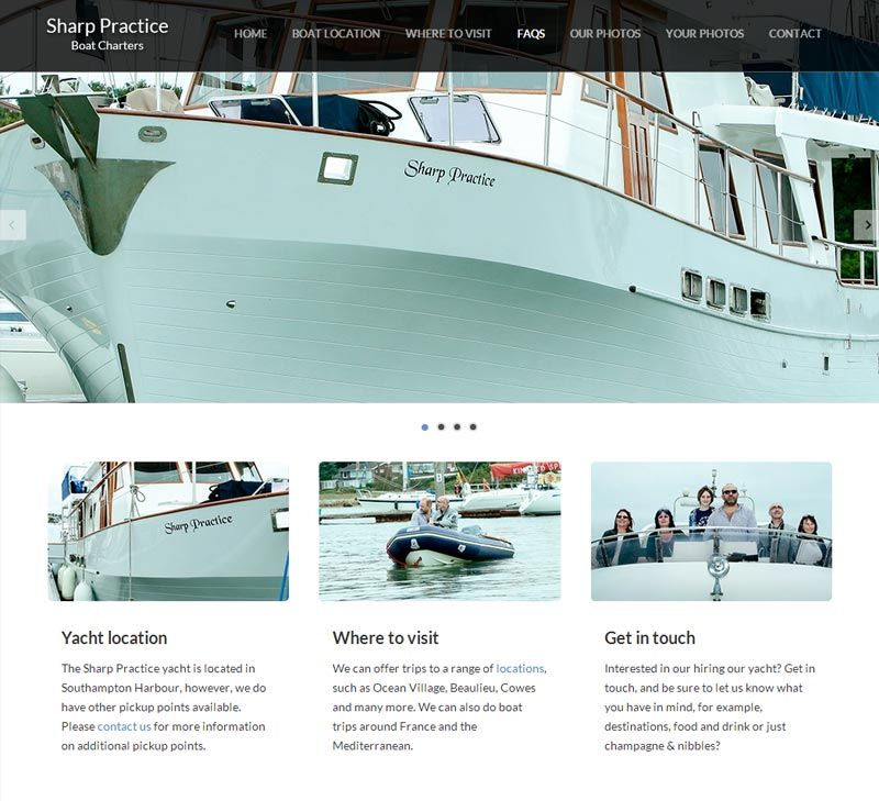 Sharp Practice Boat Charters