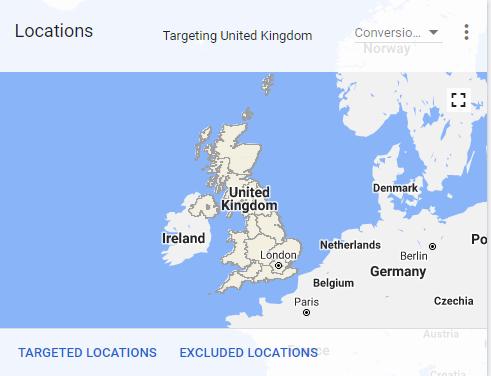 Google Ads Locations