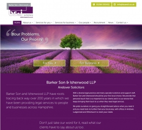 Website design after