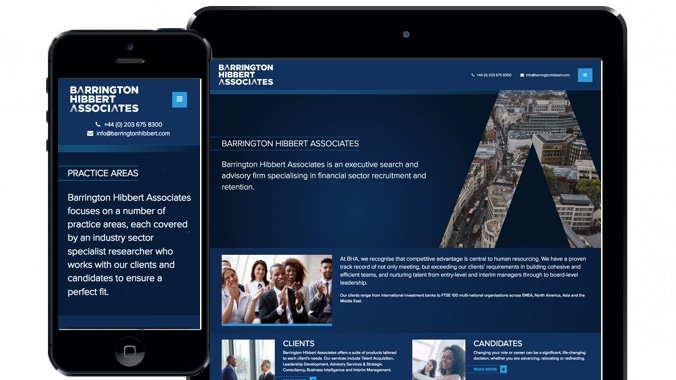 Barrington Hibbert Associates Financial Recruitment Website London