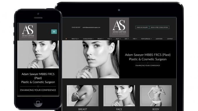 Design for Sawyer Plastic Surgery website