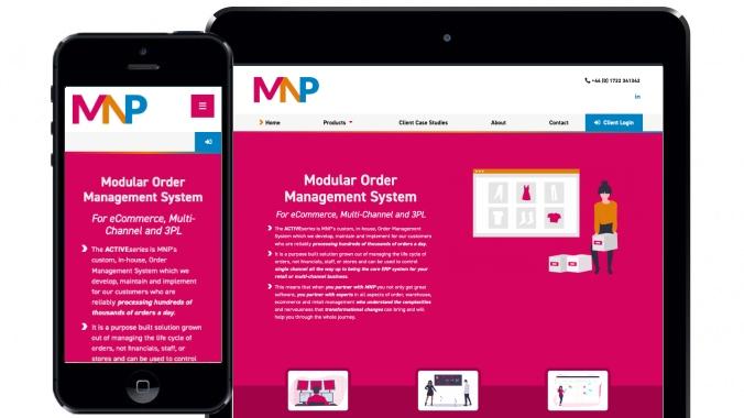 Brochure website design for MNP