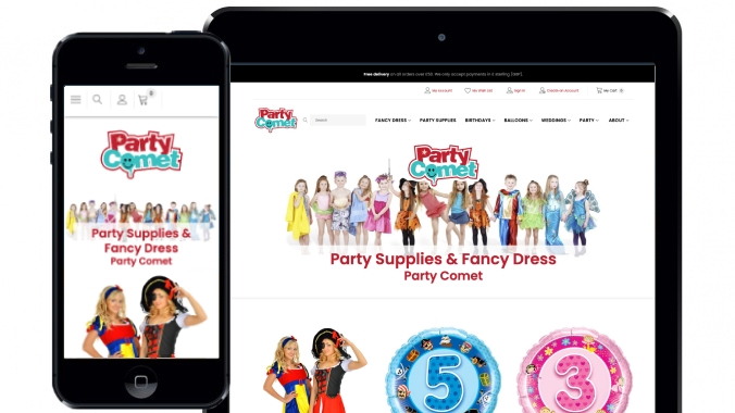 Magento shop and warehouse management integration for Party Comet